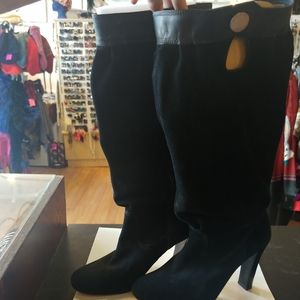 MK suede heels